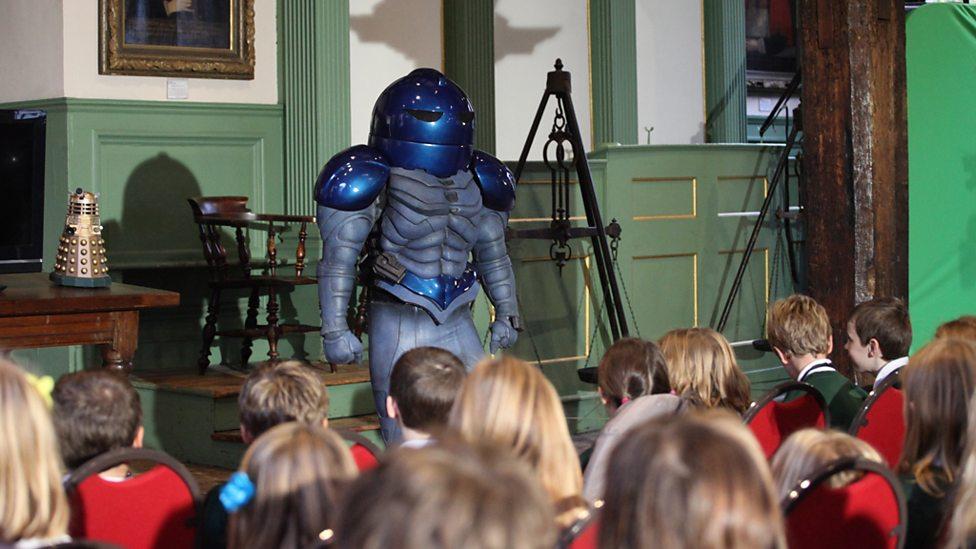 teacher dressed as robot