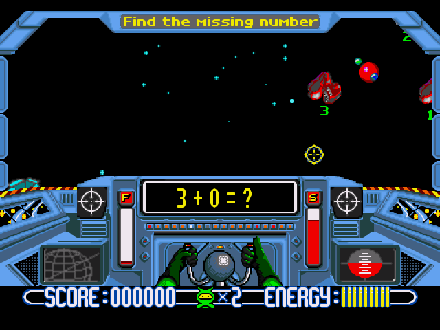Math Blaster, a 1.0 style math game