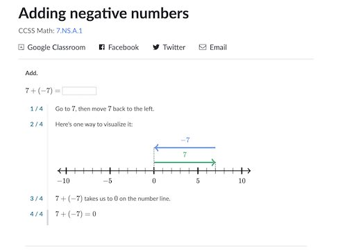 Khan Academy hints can help students learn a new topic