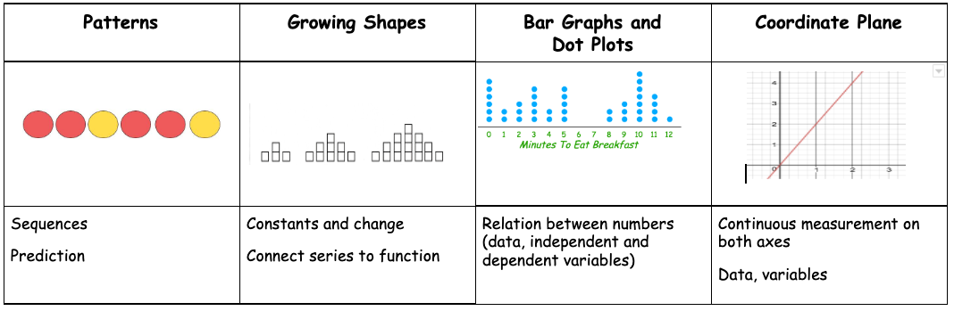 Pattern and Function Visual Model Progression