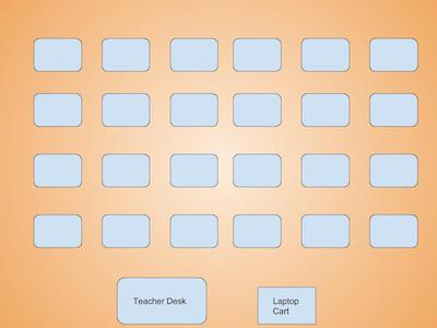 Reverse seats in rows helps teachers monitor student behavior