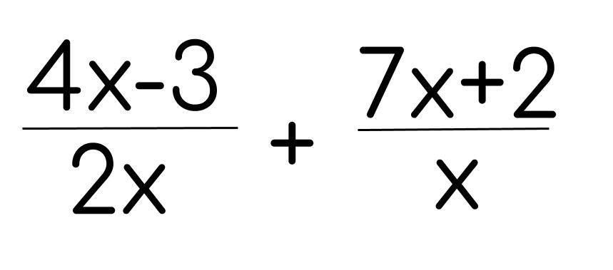 Fractional expressions (rational expressions) combine algebra and variables with fraction concepts