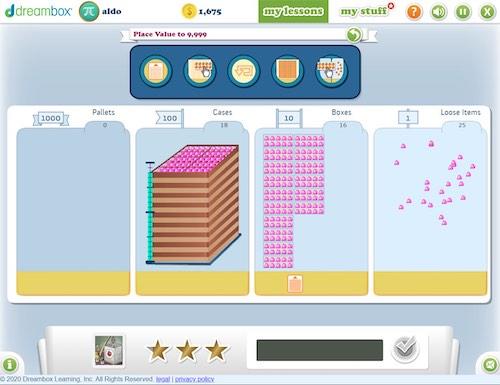 Dreambox adaptive learning platform digital manipulatives