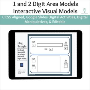 1 and 2 Digit Area Models Activities