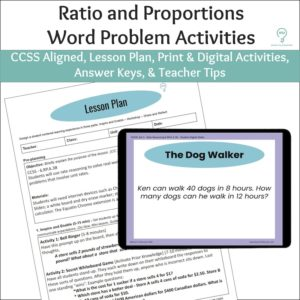 Ratio and Proportions Word Problem Activities
