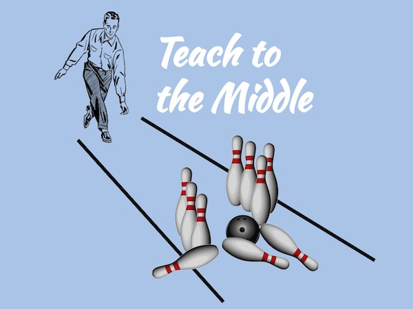 Teach to the middle is an ineffective teaching strategy that results from a lack of differentiated instruction