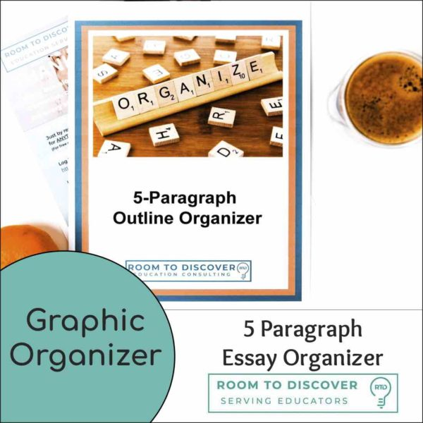 5 Paragraph Essay Writing Graphic Organizer   Print and Digital Options-4