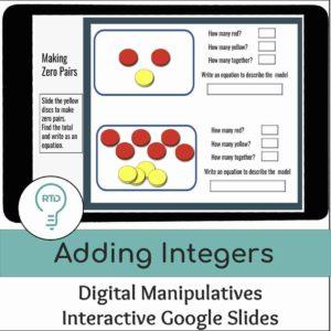 Adding Integers | Interactive Digital Visual Models