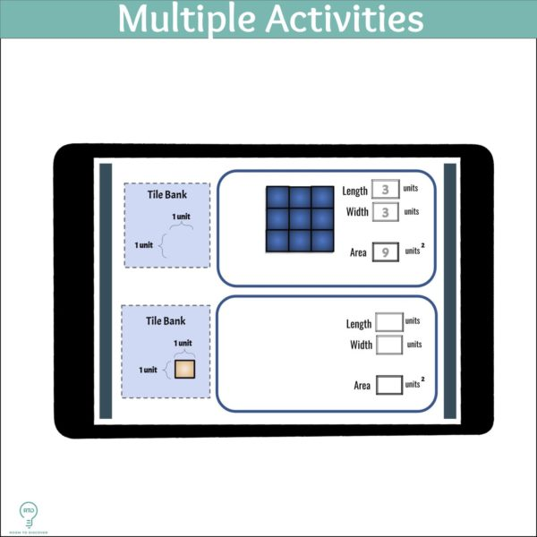 Area and Volume Activities | Digital 3D Arrays Visual Models-5