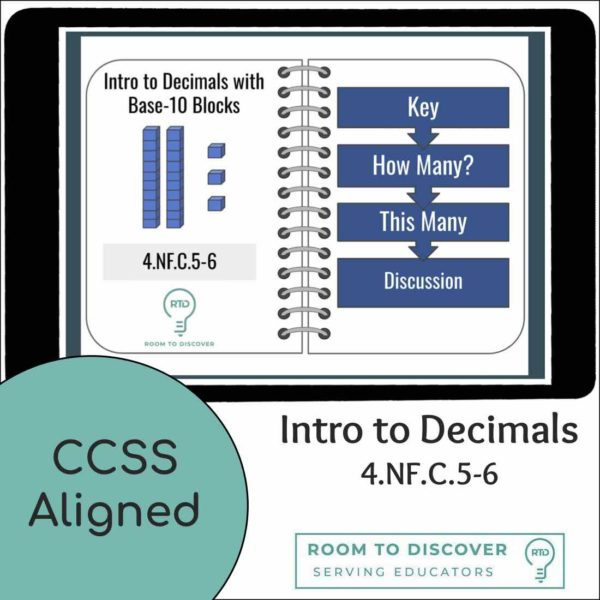 Decimals with Base-10 Blocks to the Tenths and Hundredths | Digital Visual Models-4