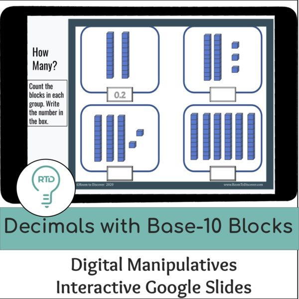 Decimals with Base-10 Blocks to the Tenths and Hundredths | Digital Visual Models