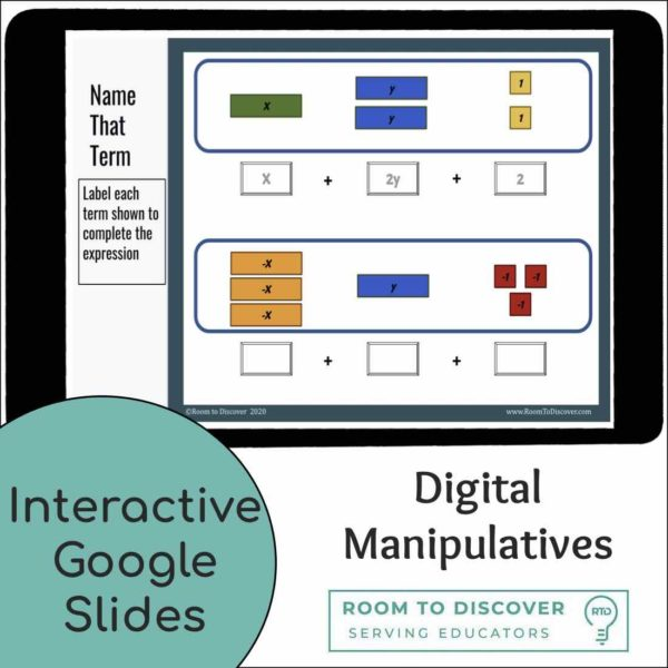 Combining Like Terms with Algebra Tiles | Interactive Digital Visual Models-2