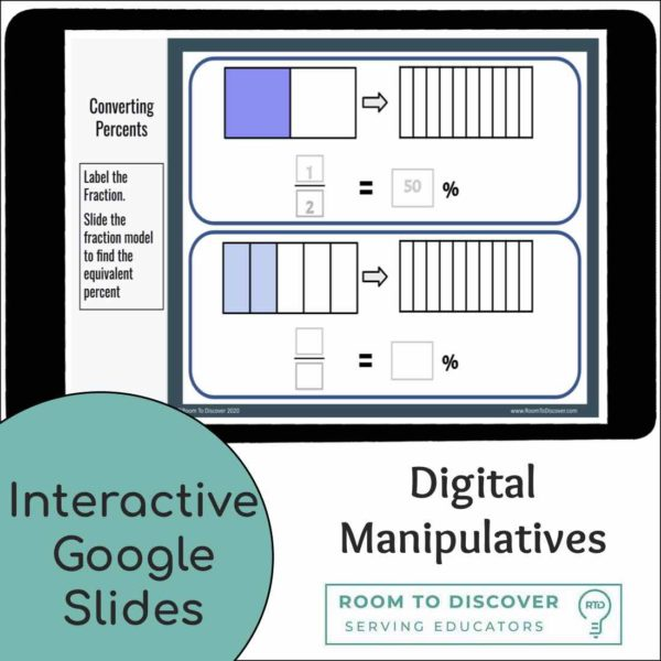 Converting Fractions to Percents| Interactive Digital Visual Models-2