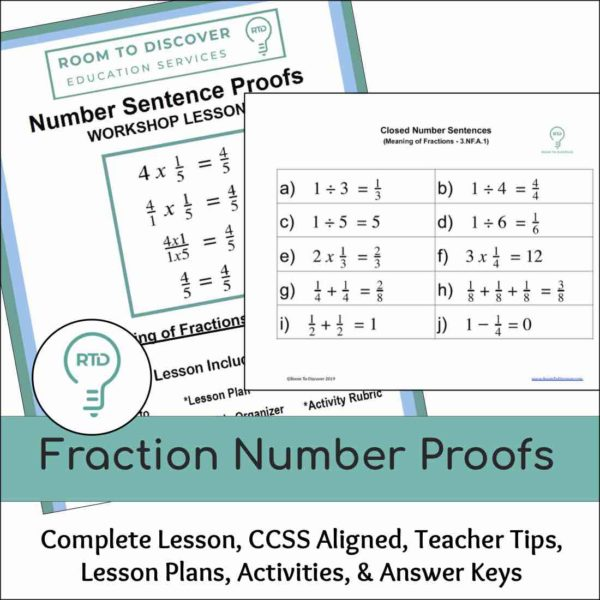 Fraction Number Proofs Activities