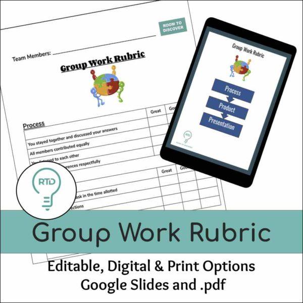 Group Work Rubric | Print and Digital Option