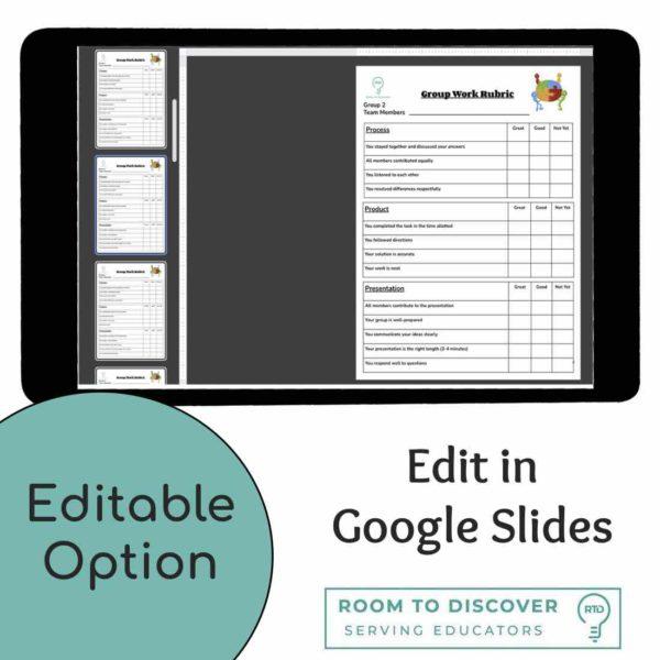 Group Work Rubric | Print and Digital Option-4