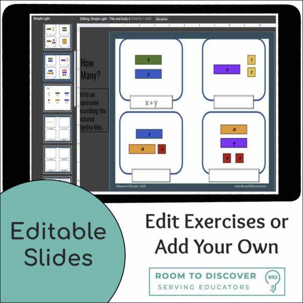 Intro to Algebra Tiles | Interactive Digital Visual Models-4