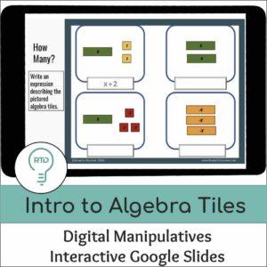 Intro to Algebra Tiles | Interactive Digital Visual Models
