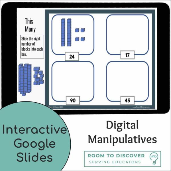 Intro to Base-10 Blocks with 2 and 3 Digit Numbers   Interactive Digital Visual Models-2