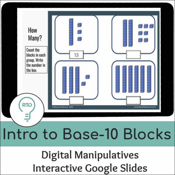 Intro to Base-10 Blocks with 2 and 3 Digit Numbers   Interactive Digital Visual Models