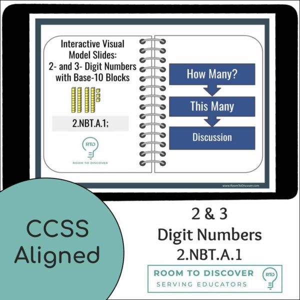 Intro to Base-10 Blocks with 2 and 3 Digit Numbers   Interactive Digital Visual Models-4