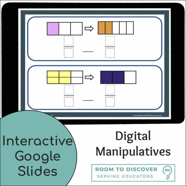 Modeling Equivalent Fractions | Interactive Digital Visual Models-2