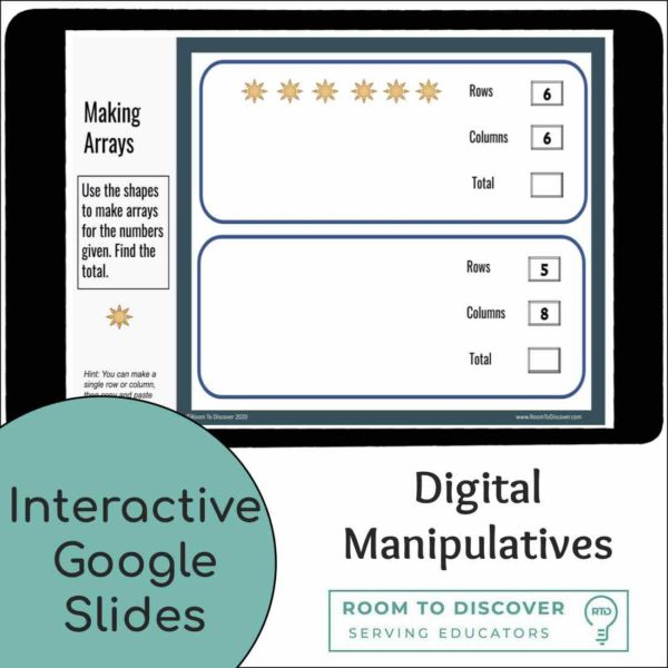 Multiplication and Division with Arrays Activities | Digital Visual Models-2