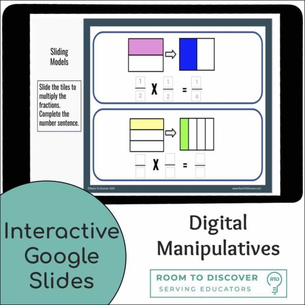 Multiplying Fractions with Area Models Activities | Interactive Google Slides-4