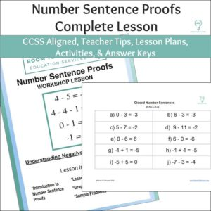 Number Sentence Proofs Activity | Negative Numbers