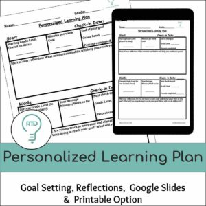 Personalized Learning Plan Activities (Digital and Print)