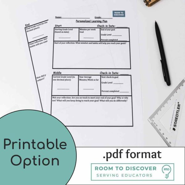 Personalized Learning Plan Activities (Digital and Print)-2