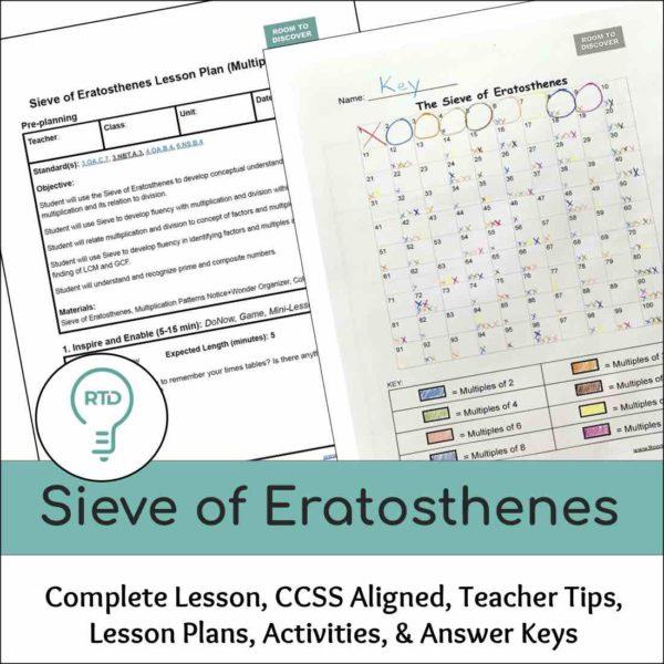 Sieve of Eratosthenes Lesson