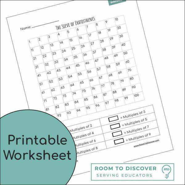 Sieve of Eratosthenes Worksheet (Worksheet ONLY)-3
