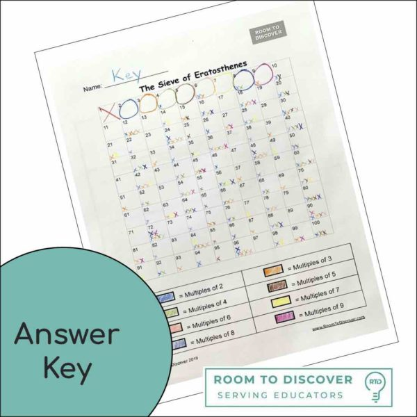 Sieve of Eratosthenes Worksheet (Worksheet ONLY)-4