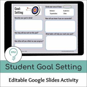 Student Goal Setting Activity | Google Slides