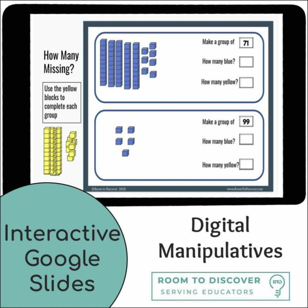 Addition to 100 using Base-10 Blocks Activities | Digital Visual Models-2