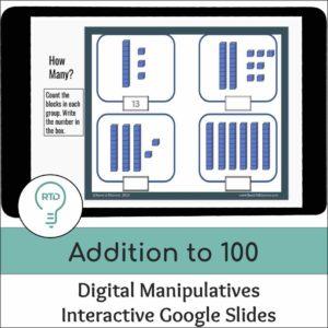 Addition to 100 using Base-10 Blocks Activities | Digital Visual Models