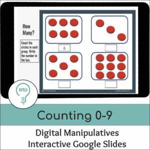Counting 0 to 9 Activities | Interactive Digital Visual Models