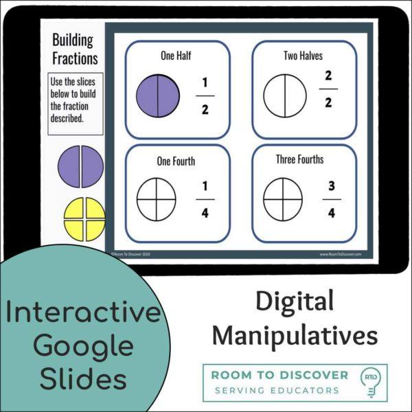 Fraction Foundations Visual Models and Digital Manipulatives | Interactive Google Slides-2