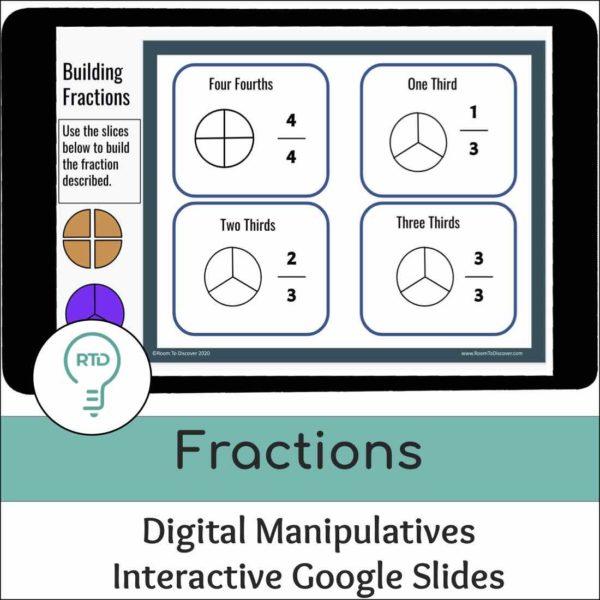 Fraction Foundations Visual Models and Digital Manipulatives | Interactive Google Slides