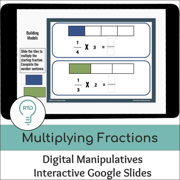 Multiplying Fractions with Area Models Activities | Interactive Google Slides