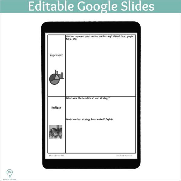 Word Problem Solving Activity | Polya 4 Step Graphic Organizer (Print and Digital)-2