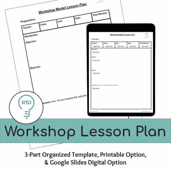 Workshop Lesson Plan   Digital and Print