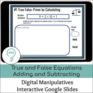 True False Equations Adding and Subtracting within 20
