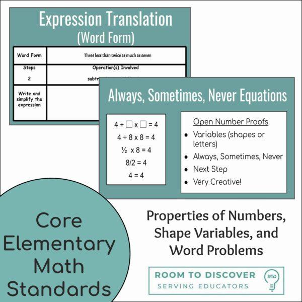 and Equations (Grades 1-5)