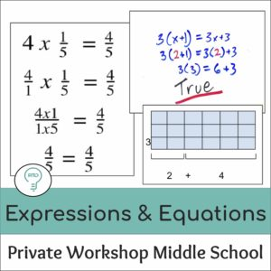 Private Workshop: Teaching Expressions and Equations in Middle School Math