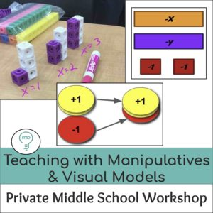 Private Workshop: Teaching with Visual Models and Manipulatives (Grades 6-8)