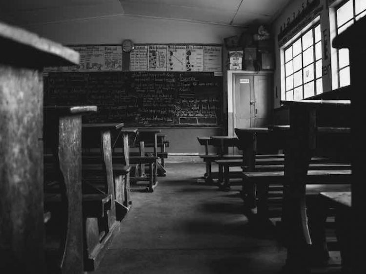 Desks in rows support traditional teaching models